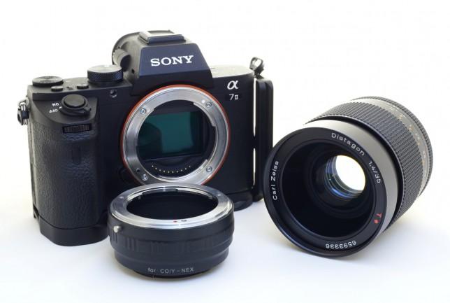 カメラとレンズとマウントアダプタ